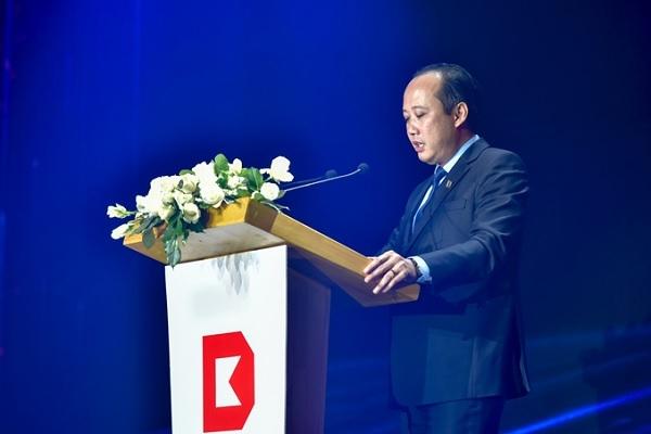 Ông Lê Thống Nhất, Chủ tịch Hội đồng Quản trị  phát biểu tại sự kiện.