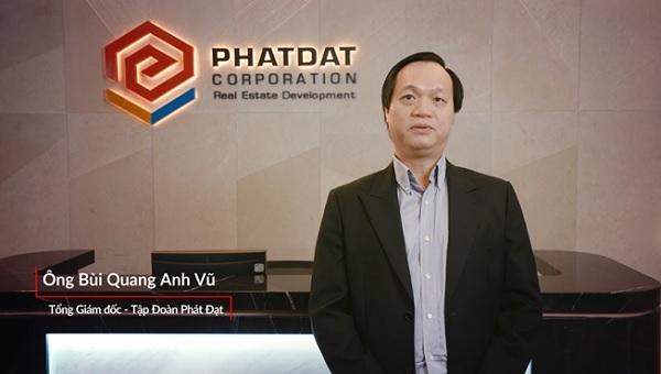 (Ông Bùi Quang Anh Vũ, Tổng giáo đốc Tập đoàn Phát Đạt chia sẻ cảm nhận về tập đoàn Danh Khôi). Ảnh trích từ video clip phỏng vấn đối tác đồng hành.
