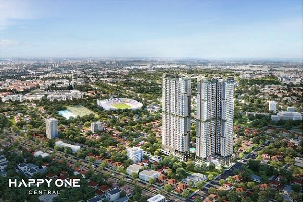 """Dự án HAPPY ONE – Central hiện tại, được xem là biểu tượng """"cao nhất"""" của TP Thủ Dầu Một."""