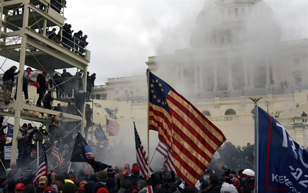 Supporters of U.S. President Donald Trump protest in front of the U.S. Capitol Building in Washington, U.S. January 6, 2021. REUTERS/Stephanie Keith
