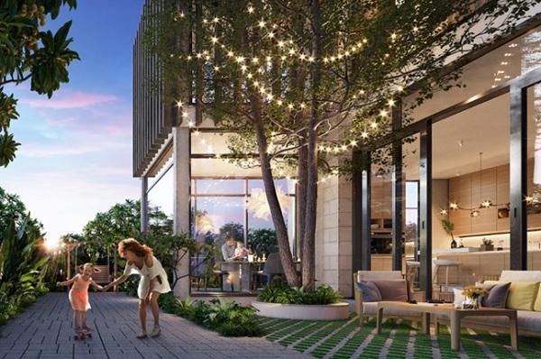 """Garden Villa với thiết kế """"see-through"""" dẫn không gian xanh và ánh sáng vào từng góc biệt thự."""