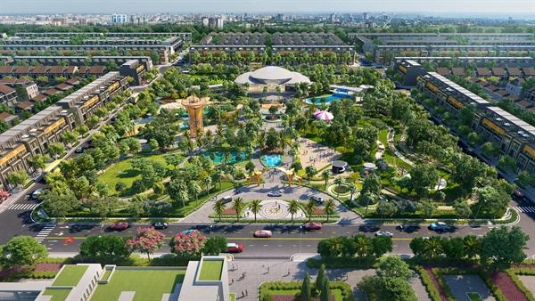 Toàn cảnh khu công viên Gem Sky Park rộng 3 ha tại khu đô thị 92 ha Long Thành.