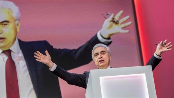Ông Fatih Birol, người đứng đầu IEA, phát biểu tại hội nghị mùa thu của Equinor, một công ty năng lượng đa quốc gia của Na Uy vào tháng 11 năm 2019. Ảnh: AFP.