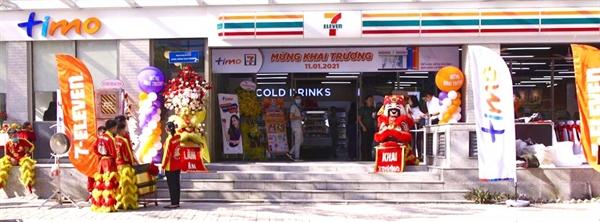 """Lần đầu tiên ngân hàng số Timo hợp tác chiến lược đặt mô hình """"Hangout"""" ngay tại cửa hàng tiện lợi của 7-Eleven tại Q.7 - TP. HCM"""