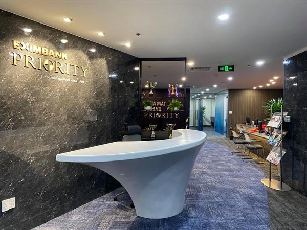 Lounge của dịch vụ Priority Banking tại Eximbank Hồ Chí Minh - 4B Tôn Đức Thắng, quận 1.