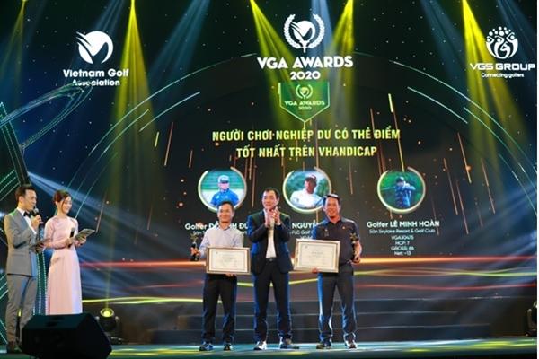3 golfer Đỗ Anh Đức, Nguyễn Văn Tám, Lê Minh Hoàn sở hữu thể điểm tốt nhất trên VHandicap.