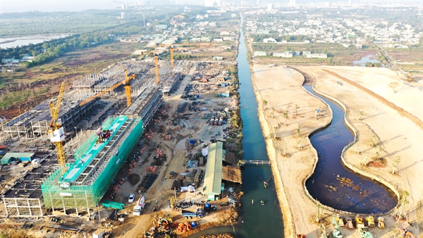 Hạ tầng toàn dự án đã đang được đẩy mạnh triển khai.