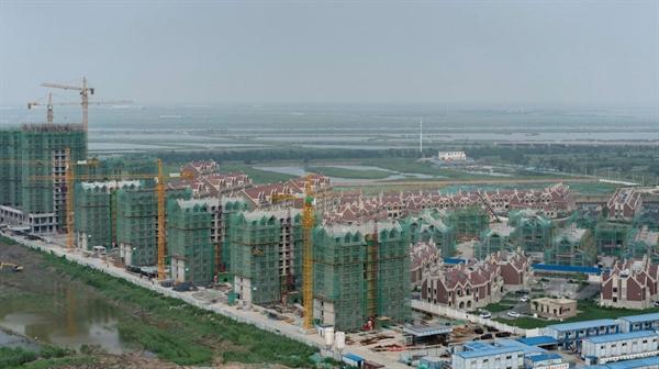 Thành phố Thiên Tân, Trung Quốc - nơi có nhiều khu dân cư mới được xây dựng trên đất trống. Ảnh: Financial Times.