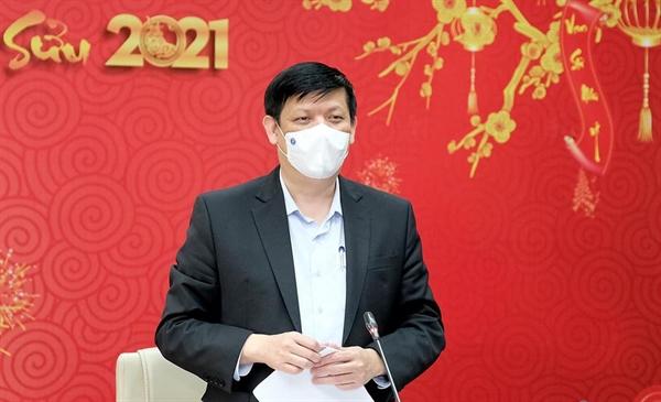 Bộ trưởng Bộ Y tế Nguyễn Thanh Long nhận định 12/13 tỉnh, thành phố cơ bản kiểm soát được dịch COVID-19. Ảnh: Bộ Y tế.