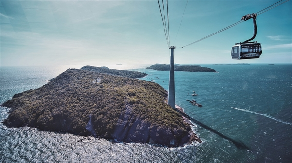 Cáp treo Hòn Thơm - Cáp treo 3 dây vượt biển dài nhất thế giới.