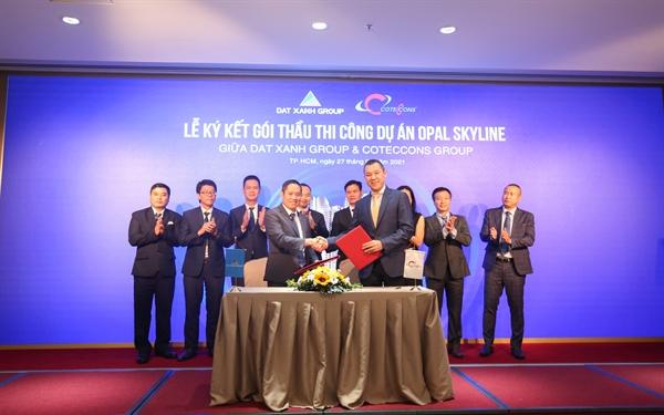 Coteccons và Đất Xanh Group ký kết gói thầu thi công dự án Opal Skyline.