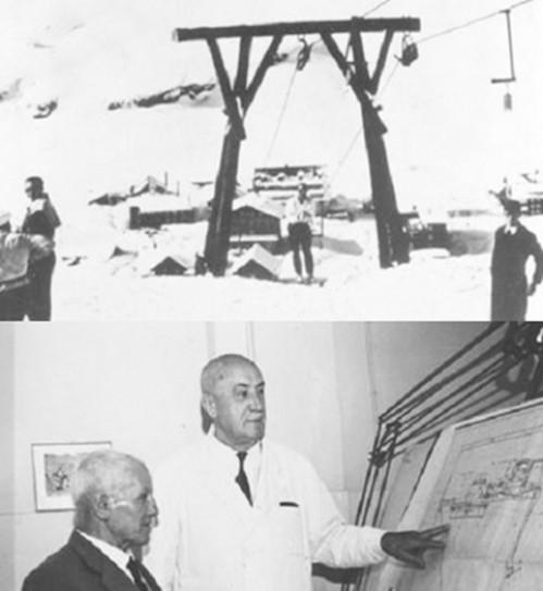 Kondrad Doppelmayr và cáp treo đầu tiên của Hãng.