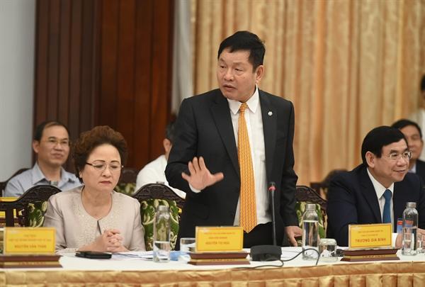 Ông Trương Gia Bình, Trưởng ban Nghiên cứu phát triển kinh tế tư nhân, Chủ tịch tập đoàn FPT. Ảnh: VGP