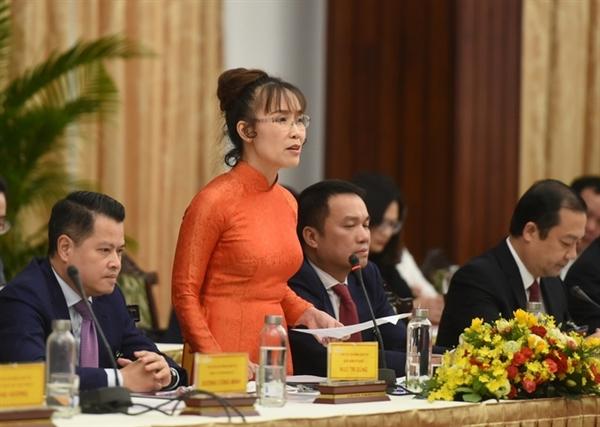 Bà Nguyễn Thị Phương Thảo, Chủ tịch Tập đoàn Sovico, Tổng Giám đốc Vietjet Air, Phó Chủ tịch thường trực HĐQT HDBank. Ảnh: VGP.