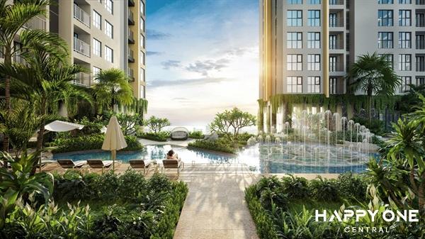 View nội khu tại Happy One – Central luôn được nâng cấp mang đến giá trị toàn diện, thu hút sự quan tâm từ phía khách hàng và nhà đầu tư thông thái.