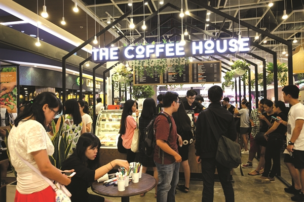 Hình ảnh tại Coffee House. Ảnh: Quý Hòa.