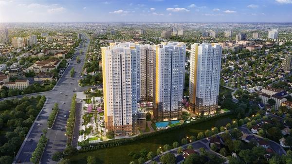 Phối cảnh dự án Bien Hoa Universe Complex do Công ty Cổ phần Hưng Thịnh Land phát triển.