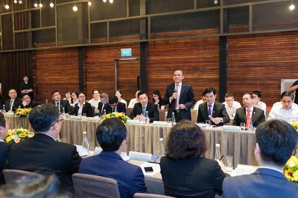 Ông Lê Hoàng Châu, Chủ tịch Hiệp hội BĐS TP.HCM tham dự sự kiện ký kết và góp ý trong phiên thảo luận hợp tác.