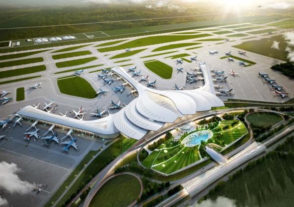 Sân bay quốc tế Long Thành khởi công đầu năm 2021 và dự kiến đi vào vận hành 2025. Ảnh: TL.