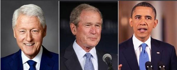 Hầu hết các cựu tổng thống Mỹ, bao gồm Barack Obama, George Bush và Bill Clinton, đều kiếm được rất nhiều tiền sau khi rời Nhà Trắng. Ảnh: Business Today.