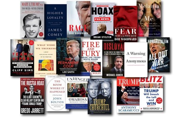 Danh số bán sách của ông Trump giảm 87% trong 5 năm. Ảnh: The New York Times.