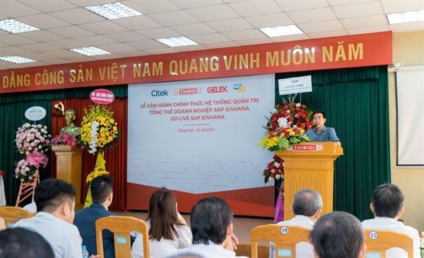 Ông Nguyễn Công Tẩn, Tổng Giám đốc Citek phát biểu tại buổi lễ.