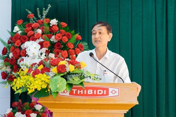 Ông Phan Ngọc Thảo, Tổng Giám Đốc THIBIDI phát biểu tại buổi lễ.