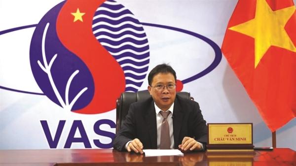 Giáo sư, Viện sĩ Châu Văn Minh - Chủ tịch Viện Hàn lâm Khoa học và Công nghệ Việt Nam. Ảnh: vov.vn.