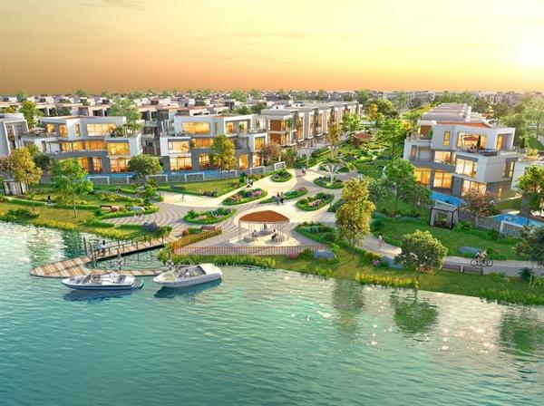 VietinBank cung cấp dịch vụ cho vay mua nhà tại Dự án Khu đô thị sinh thái thông minh Aqua City trong giai đoạn đầu Hợp tác chiến lược - Ảnh phối cảnh không gian sống sinh thái tiện nghi tại Aqua City