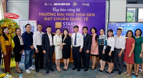 Đại học Hoa Sen đạt chứng nhận quốc tế QS-STARS 4 sao về giáo dục.