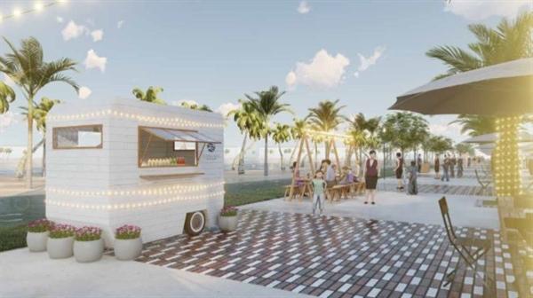 """Tại Hội chợ mua sắm """"Ocean Street Market"""", cư dân và khách tham quan sẽ được trải nghiệm phố đi bộ sầm uất với hơn 50 gian hàng là những chiếc xe lưu động phong cách biển nhiệt đới."""