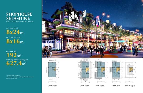 Hệ thống Shophouse Selashine thu hút nhà đầu tư bởi vị trí chiến lược và thiết kế sang trọng, tiện ích.