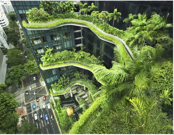Khách sạn Park Royal on Pickering tại Singapore được thiết kế như một khách sạn giữa vườn thiên nhiên (trivago