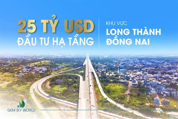 Hạ tầng được đầu tư tổng lực, Long Thành - Đồng Nai bứt phá nhanh chóng.