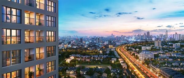 Lavita Thuan An nằm ngay cung đường huyết mạch, trong tương lai sẽ trở thành đại lộ thương mại - dịch vụ lớn nhất tỉnh Bình Dương. Ảnh phối cảnh: Hưng Thịnh Land.
