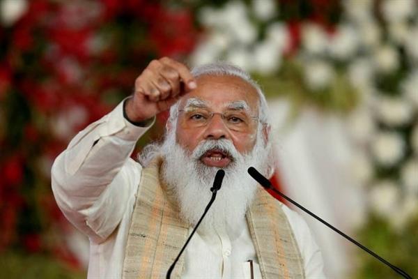 Thủ tướng Narendra Modi đã phát biểu tại cuộc họp vào tháng trước nhân kỷ niệm 75 năm ngày độc lập của Ấn Độ. Ảnh: Reuters.