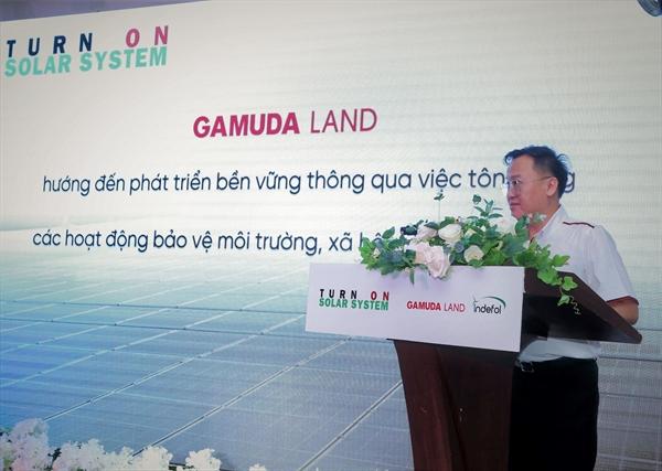 Ông Angus Liew, Tổng giám đốc Gamuda Land (HCMC) phát biểu tại lễ kích hoạt.