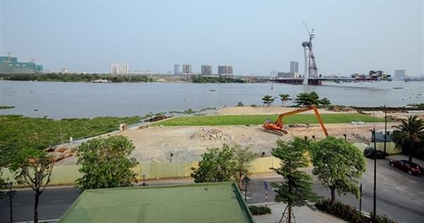 Mặt bằng dự án Grand Marina, Saigon có 2 mặt tiền giáp đường Nguyễn Hữu Cảnh và Tôn Đức Thắng, Quận 1.