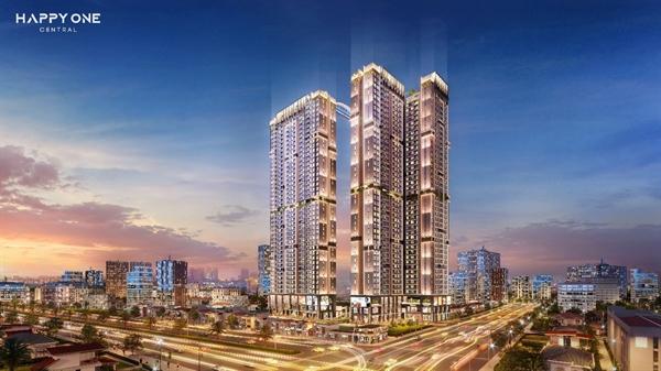 Hình ảnh tổng thể của Khu phức hợp căn hộ thông minh trung tâm TP Thủ Dầu Một Happy One - Central