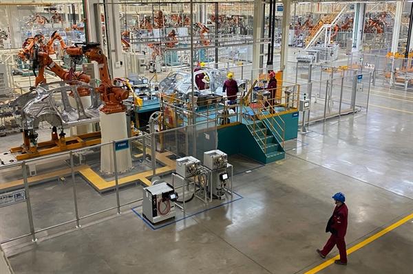 Nhà máy Nio ở Hợp Phì, Trung Quốc. Ảnh: The New York Times.