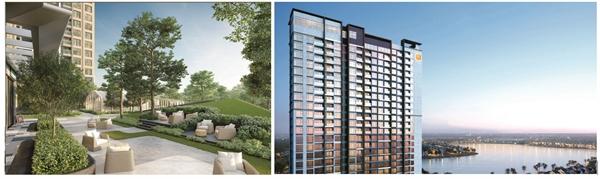 """Hai dự án áp dụng giải pháp """"đổi nhà"""" mới tại Hà Nội là Masteri West Heights (trái) và Masteri Waterfront (phải). Được biết, đây cũng là 2 sản phẩm hạng sang mới nhất của Masterise Homes."""