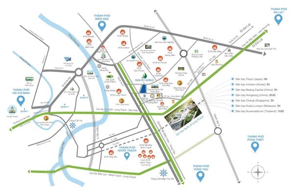 Nằm giữa những trục giao thông lớn, Long Thành trở thành trung tâm trung chuyển của vùng kinh tế phía Nam.