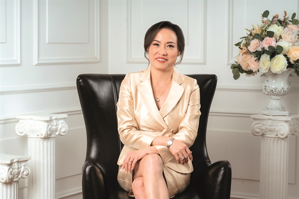 bà Tiêu Yến Trinh, (nguyên Phó Chủ tịch YBA và Tổng Giám đốc Công ty Talentnet Corporation). Ảnh: TL.