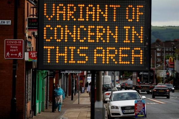 Bolton, tây bắc nước Anh, nơi biến thể có khả năng lây truyền cao lần đầu tiên được tìm thấy ở Ấn Độ đang lan rộng. Ảnh: Reuters.