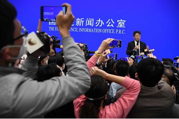 Giám đốc Trung tâm Kiểm soát và Phòng ngừa Dịch bệnh Trung Quốc Gao Fu phát biểu trong một cuộc họp báo ở Bắc Kinh ngày 26.1. Ảnh: AFP.