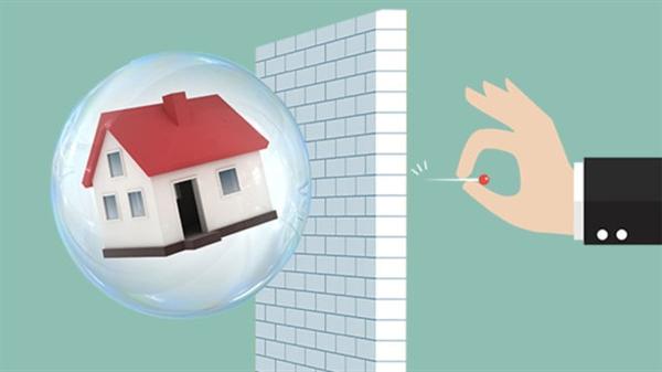 Bong bóng bất động sản từng xảy ra do tiền rẻ. Ảnh: Thenewdaily.