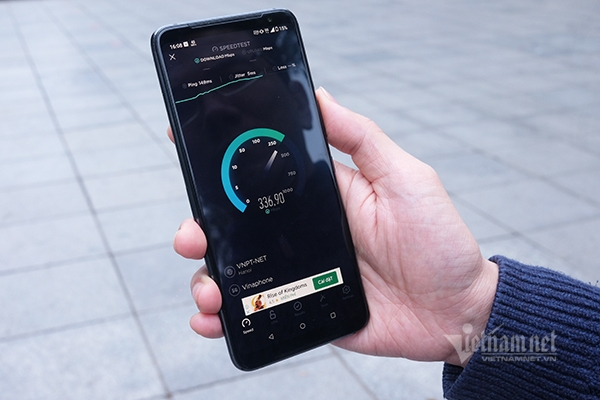 The average 5G speed in Vietnam is currently between 500-600 Mbps. Photo: Trong Dat