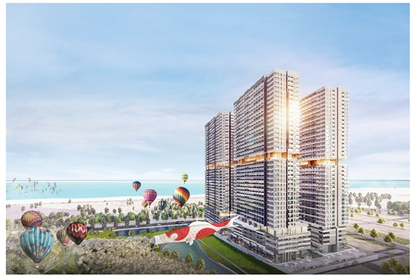 Khu đô thị Takashi Ocean Suite Kỳ Co được phát triển bởi Tập đoàn Danh Khôi, mang đến dòng sản phẩm Ocean Suite theo phong cách Nhật bên vịnh biển