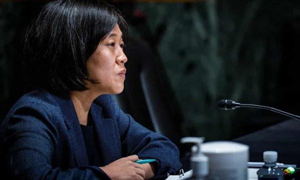 Đại diện Thương mại Mỹ Katherine Tai cho biết: bà đang tập trung vào việc tìm kiếm một giải pháp đa phương cho thuế kỹ thuật số. Ảnh: Reuters.