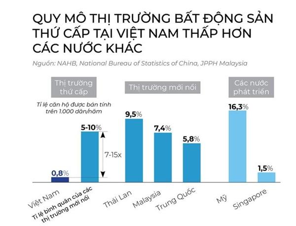 Báo cáo của McKinsey cho thấy thị trường sơ cấp tại Việt Nam còn nhiều tiềm năng để phát triển.
